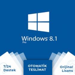 Windows 8.1 Pro Retail Dijital Lisans Anahtarı